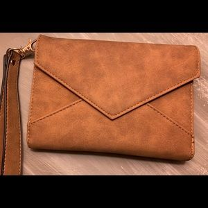Brown/ copper VR NYC  wristlet wallet from target